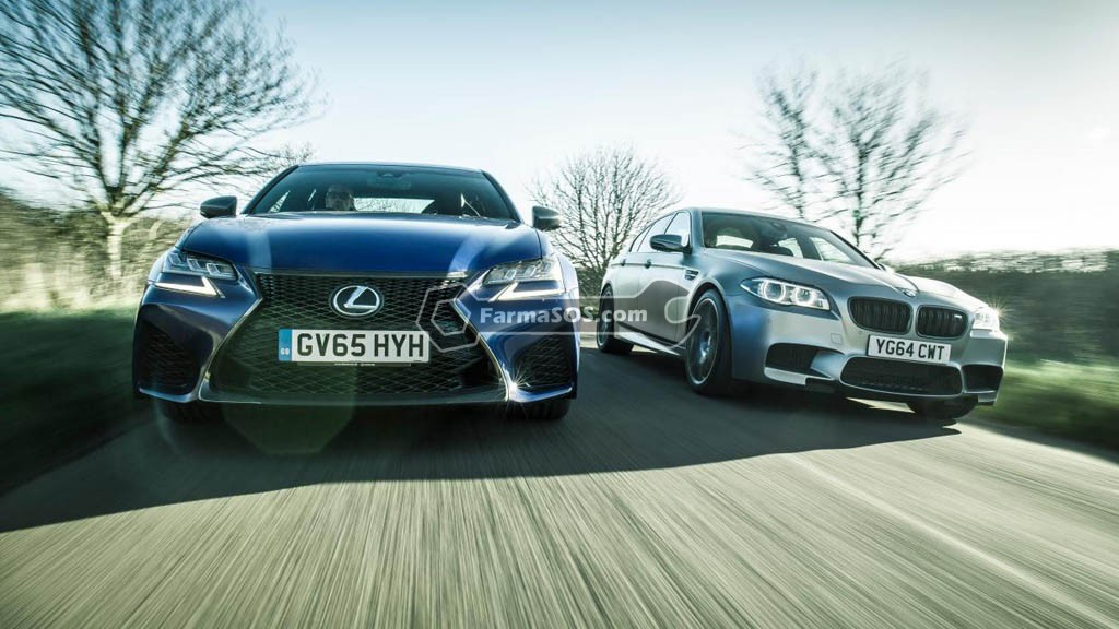 2016 Lexus GS F BMW M5 رقابت لکسوس GS F با بی ام و M5