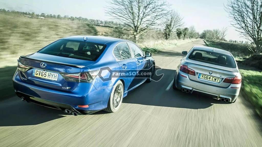 BMW M5 vs Lexus GS F 010 رقابت لکسوس GS F با بی ام و M5